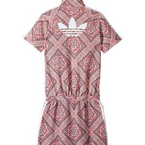 Adidas Stained Glass Graphic Logo Print Dress NWT
